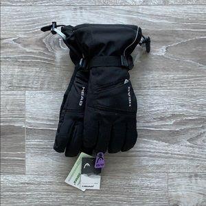 Head Unisex Black Snow Gloves
